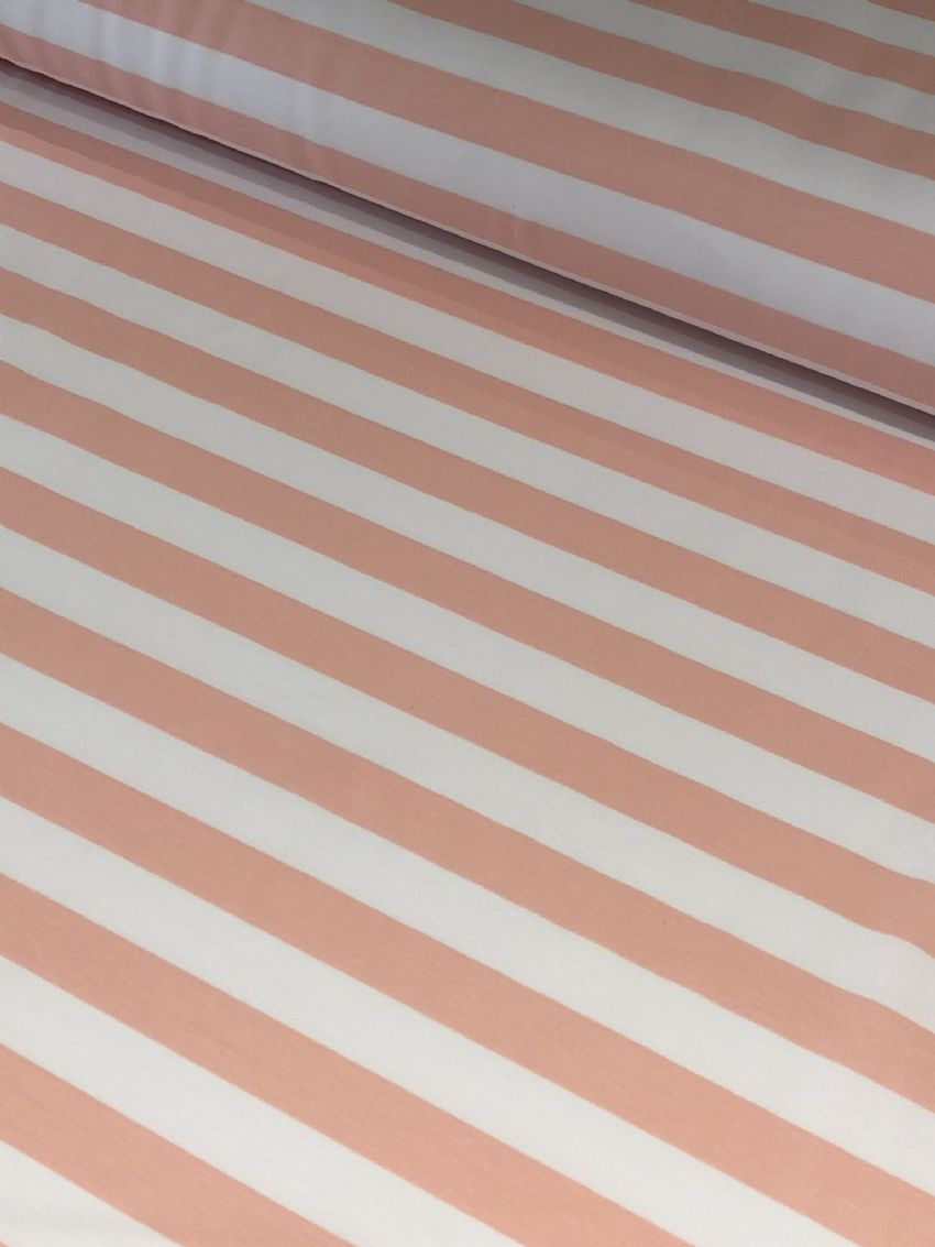 Peach and White Stripe - Ophelia